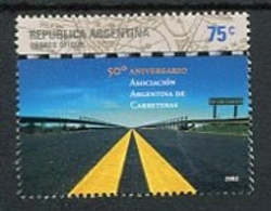 50 AÑOS DE LA ASOCIACION ARGENTINA DE CARRETERAS. ARGENTINA AÑO 2002, GOTTIG JALIL GJ 3240 MNH NUEVO - LILHU - Holidays & Tourism