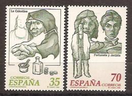España 3538/3539 ** Personajes De Ficción. 1998 - 1931-Today: 2nd Rep - ... Juan Carlos I