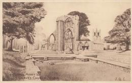 Postcard St Mary's Abbey & St Olave's Church York My Ref  B13356 - York
