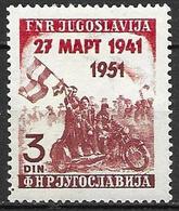 Yugoslavia 1951 - 10th Anniversary To Nazi Germany Resistance - 1945-1992 Socialist Federal Republic Of Yugoslavia