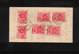 India 1950 Interesting Airmail Letter - 1950-59 Republik