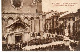 Vicenza - Piazza S. Lorenzo E Monumento A G. Zanella - - Vicenza