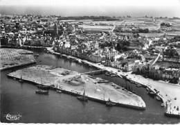 44 - LE CROISIC : Vue Aérienne Générale Du Port  - Les Quais- CPSM Dentelée Noir Blanc GF 1953 - Loire Atlantique - Le Croisic
