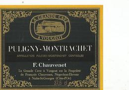 Etiquette Puligny Montrachet Par F Chauvenet - Bourgogne