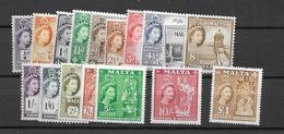 1956 MNH Malta, Definitives, Postfris - Malta