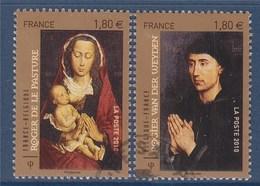 = Les Primitifs Flamands, Tableau De Roger Van Der Weyden - Roger De La Pasture N°4525 Et 4526 Oblitéré - Frankreich