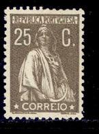 ! ! Portugal - 1926 Ceres 25 C - Af. 384 - MH - 1910-... Republik