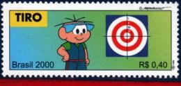 Ref. BR-2764S BRAZIL 2000 SPORTS, OLYMPICS, SHOOTING,, MONICA'S TEAM, COMICS, MI# 3077, MNH 1V Sc# 2764S - Tiro (armi)