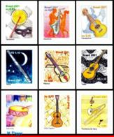Ref. BR-2810-18 BRAZIL 2001 MUSIC, MUSIC INSTRUMENTS,, MI# 3175-83, SET SELF-ADHESIVE MNH 9V Sc# 2810-2018 - Ongebruikt