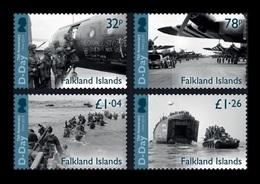 Falkland Islands 2019 Mih. 1394/97 World War II. D-Day. Planes. Ships. Tanks MNH ** - Falklandeilanden