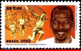 Ref. BR-2857 BRAZIL 2002 - ADHEMAR FERREIRA DA SILVA, , OLYMPIC GOLD MEDALIST, MI# 3269, MNH, SPORTS 1V Sc# 2857 - Olympische Spiele