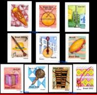Ref. BR-2869A-77A BRAZIL 2002 MUSIC, MUSICAL INSTRUMENTS,, MI# 3247-56, SET MNH 10V Sc# 2869A-2877 - Brésil