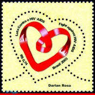 Ref. BR-2906 BRAZIL 2003 - HEALTH, FIGHT AGAINST AIDS,, MI# 3338, MNH,1V Sc# 2906 - Brésil