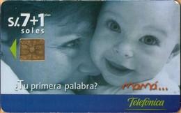 Peru - PE-TLF-CHP-0051, Día De La Madre, Children, Mother, 7+1 S/., 8.000ex, 5/99, Used - Peru
