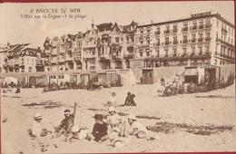 Knokke Knocke Sur Mer Villas Sur La Digue Et La Plages Strandkabines Plage Cabines 1923 - Knokke