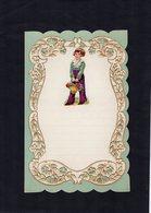 VP15.082 - Lettre Vierge Papier Gaufré Double Page Avec Découpi Enfant - Enfants