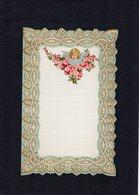 VP15.083 - Lettre Vierge Papier Gaufré Double Page Avec Découpi Fleur & Tête D'Enfant - Enfants