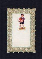 VP15.084 - Lettre Vierge Papier Gaufré Double Page Avec Découpi Enfant - Enfants