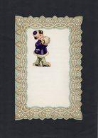 VP15.085 - Lettre Vierge Papier Gaufré Double Page Avec Découpi Enfant - Enfants
