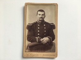Cdv Soldat Militair Uniform 17 Photo Locquier Rambervillers Regiment Epinal? - Guerre, Militaire