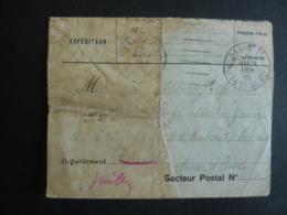LETTRE EN FRANCISE POSTALE 1915- LA PRATIQUE  ENVELOPPE LETTRE  Cachet à Date  PARIS Et RUEIL 1915 - Marcophilie (Lettres)