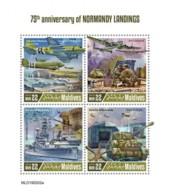 Z08 MLD190202a MALDIVES 2019 Normandy Landings MNH ** Postfrisch - Maldives (1965-...)