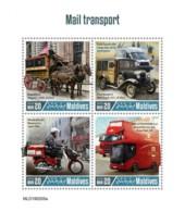 Z08 MLD190205a MALDIVES 2019 Mail Transport MNH ** Postfrisch - Malediven (1965-...)