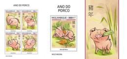 Z08 MOZ190229ab MOZAMBIQUE 2019 Year Of The Pig MNH ** Postfrisch - Mosambik