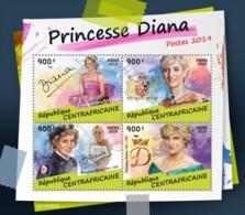 Z08 IMPERF CA190303a CENTRAL AFRICA 2019 Princess Diana MNH ** Postfrisch - Zentralafrik. Republik