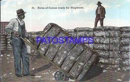 113569 US COSTUMES BALES OF COTTON READY FOR SHIPMENT POSTAL POSTCARD - Estados Unidos