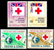 235  Red Cross - Croix Rouge - Tristan Da Cunha Yv 133 à 136 - No Gum - 0,95 (6) - Red Cross