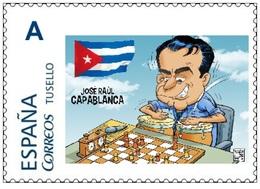 Spain 2015 - Tribute To Jose Raul Capablanca Chess Master Tu Sello Mnh - Ajedrez
