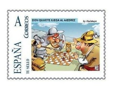 Spain 2015 - Don Quijote Jugando Ajedrez Mnh - Personalizado Tu Sello - Ajedrez