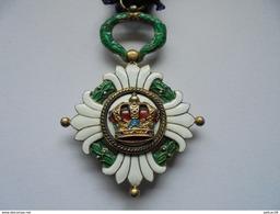 Sublime Médaille Ordre De La Couronne Yougoslave Serbie 3X 1929 Yougoslavie Militaire Armée - Autres Pays