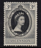 Ascension 1953 Coronation 3d Used  SG 56 - Ascension