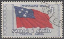 SAMOA-USED 1962 2/6d Flag - Samoa