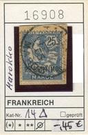 Frankreich - France - Francia - Marokko / Maroc - Michel 14 Auf Bst / Sur Fragment - Oo Oblit. Used Gebruikt - Marokko (1891-1956)