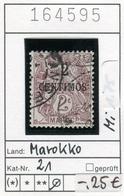 Frankreich - France - Francia - Marokko / Maroc - Michel 21 - Oo Oblit. Used Gebruikt - Marokko (1891-1956)