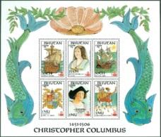BHUTAN 1987 DISCOVERY OF AMERICA SHEET OF 6** (MNH) - Christoph Kolumbus