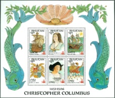 BHUTAN 1987 DISCOVERY OF AMERICA SHEET OF 6** (MNH) - Christophe Colomb