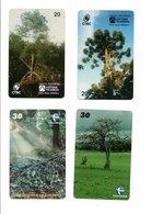 4 Télécartes Brésil Arbres Tree Forêt  (D 548) - Landschappen