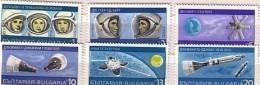 BULGARIA / Bulgarie   1967  SPACE     6v.-MNH - Bulgaria