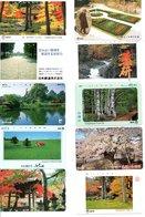 10 Télécartes Japon Japan Arbre Arbres Tree Forêt  Paysage (D 550) - Paysages