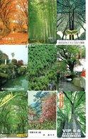 9 Télécartes Japon Japan Arbre Arbres Tree Forêt  Paysage (D 552) - Paysages