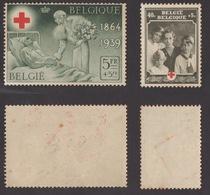 BELGIO !!! 1939 LOTTO PRO CROCE ROSSA !!! - Usati