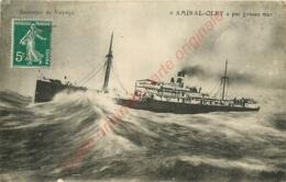 AMIRAL OLRY . Par Grosse Mer .  SOUVENIR DE VOYAGE .  Paquebot . - Steamers