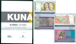 Croatia 2019 1994 KUNA 25 Years Book Picture Of Proof Issuing Protocol Characteristics Issues - Croatie