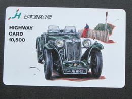JAPAN HIGHWAY PREPAIDCARD - CAR MG - Giappone