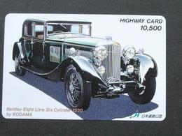 JAPAN HIGHWAY PREPAIDCARD - CAR BENTLEY 1930 - Giappone