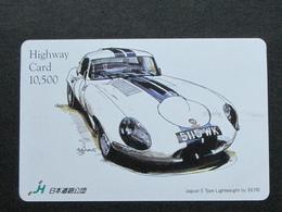 JAPAN HIGHWAY PREPAIDCARD - CAR JAGUAR E TYPE - Giappone